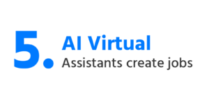 Image with text AI virtual assistants create jobs